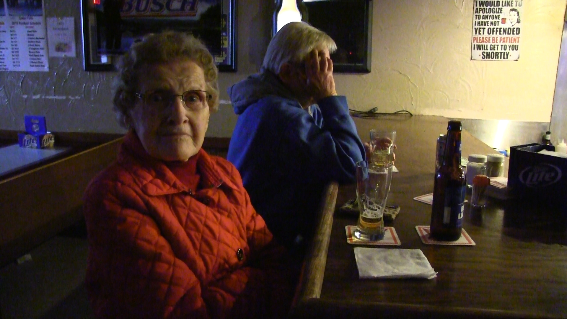 This 93-year-old woman was drinking a Bud at the end of the Lime Springs bar. Photo by Media Milwaukee staff.