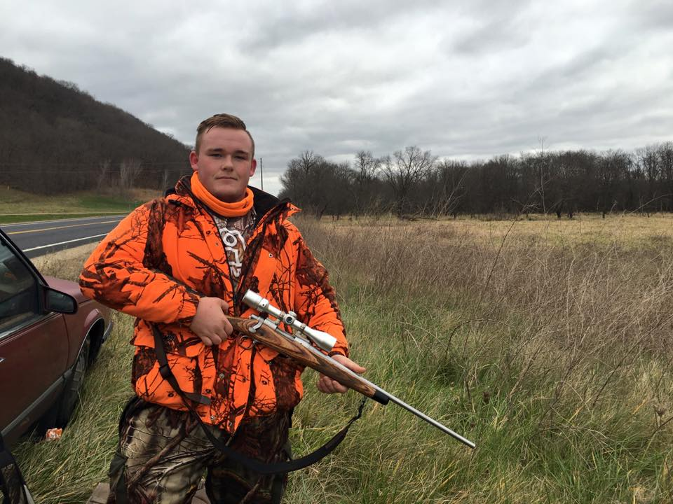 Jacob Bray, 15, was hunting with his father in Wisconsin. Photo by Media Milwaukee staff.